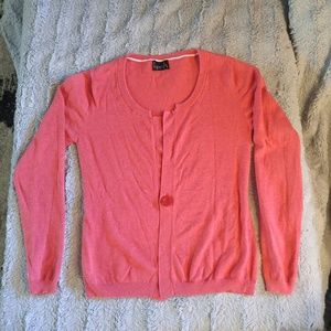 Salmon cozy cardigan with fitted back